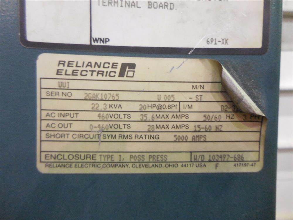 Image RELIANCE ELECTRIC 24C4020U AC Drive 1542052