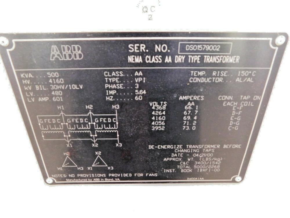 Image ABB Dry Type Transformer - 500 KVA 1553918