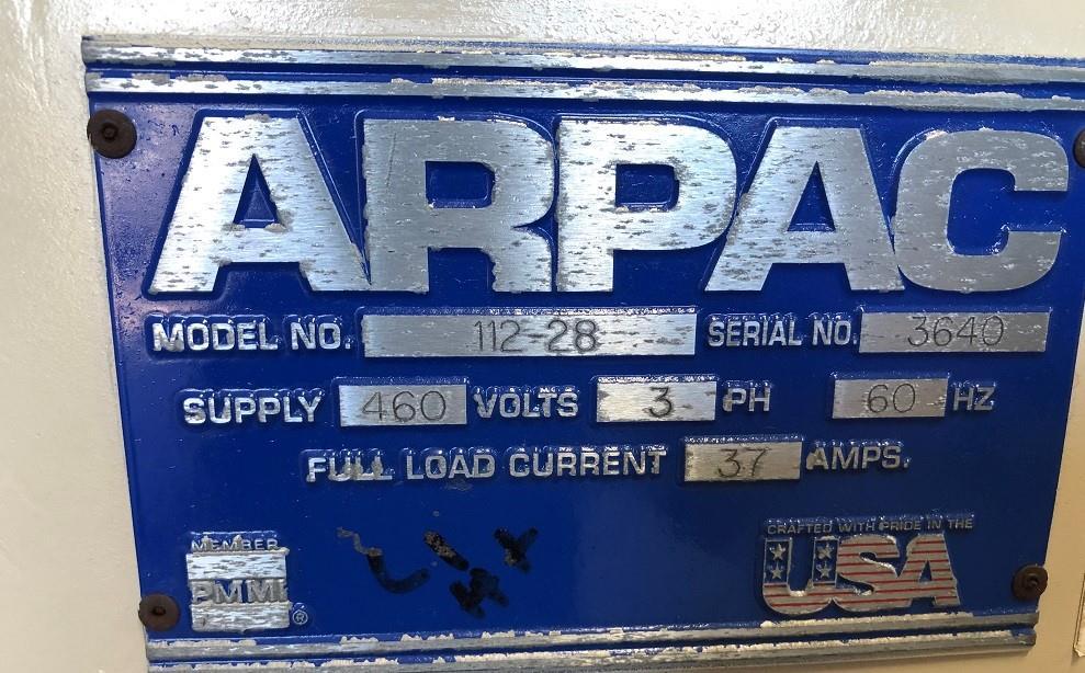 Image ARPAC 112-28 Tray Shrink Bundler Wrapper 1575847