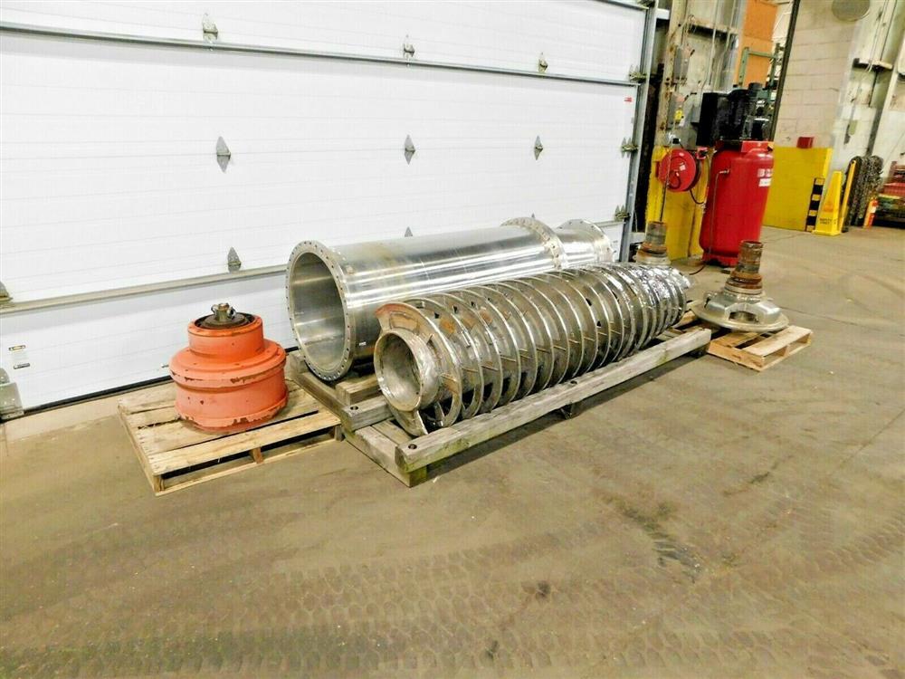 Image BIRD Centrifuge Bowl, Conveyor, Ends Gear and Extra Parts 1575909