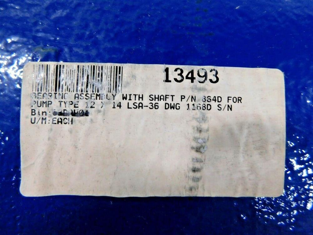 Image GIW KSB 864D Pump Shaft / Bearing Assembly 1575930