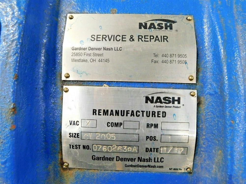 Image NASH CL2005 Liquid Ring Vacuum Pump 1575938