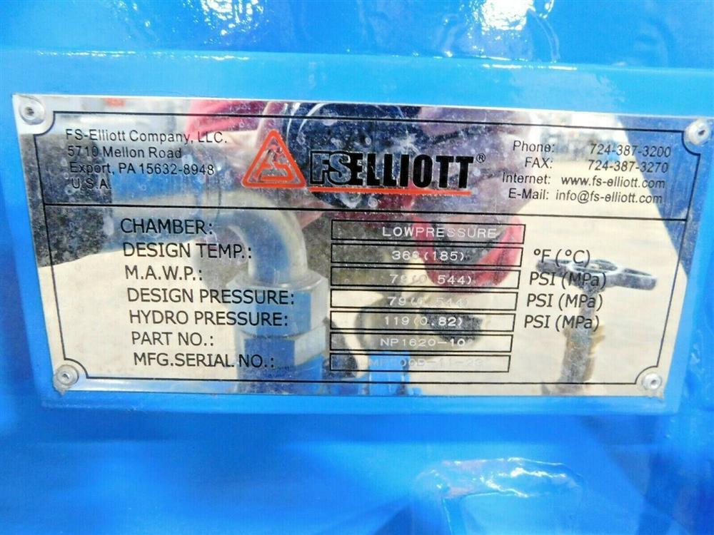 Image 600 HP FS ELLIOTT POLARIS P500-600 Compressor 1576067