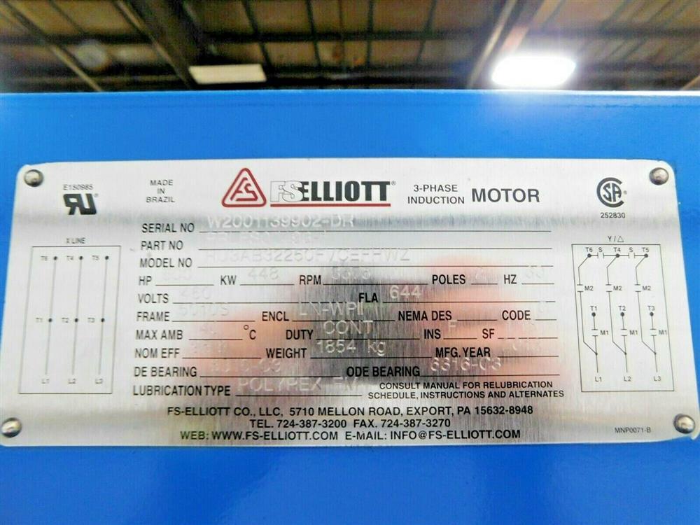Image 600 HP FS ELLIOTT POLARIS P500-600 Compressor 1576069