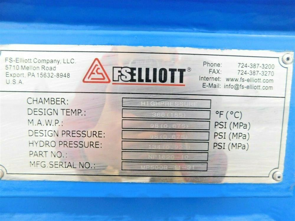Image 600 HP FS ELLIOTT POLARIS P500-600 Compressor 1576080