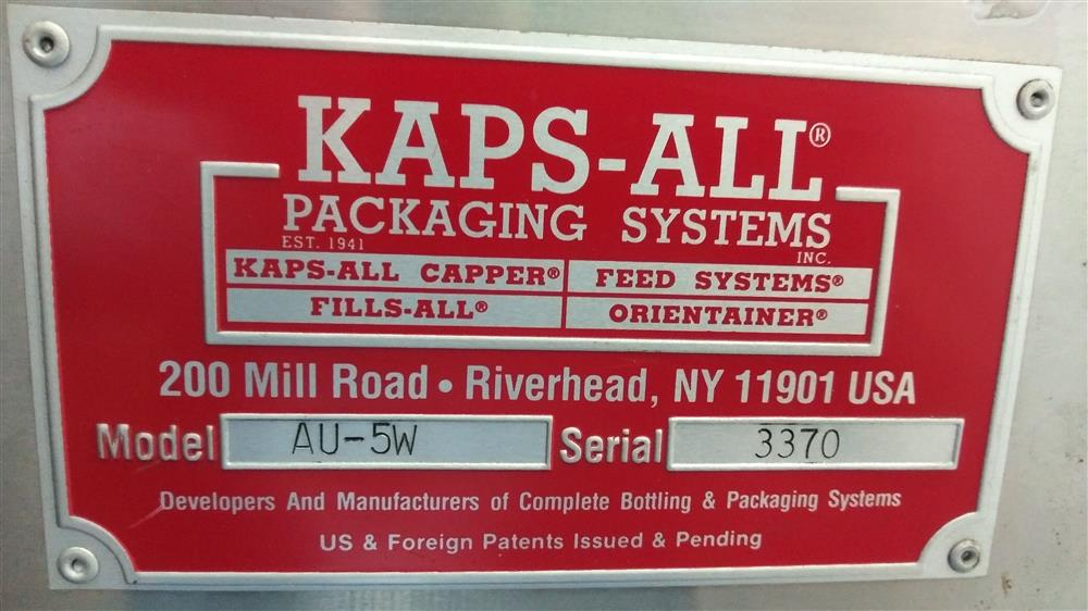Image KAPS ALL PACKAGING SYSTEMS Automatic Bottle Unscrambler 1582910