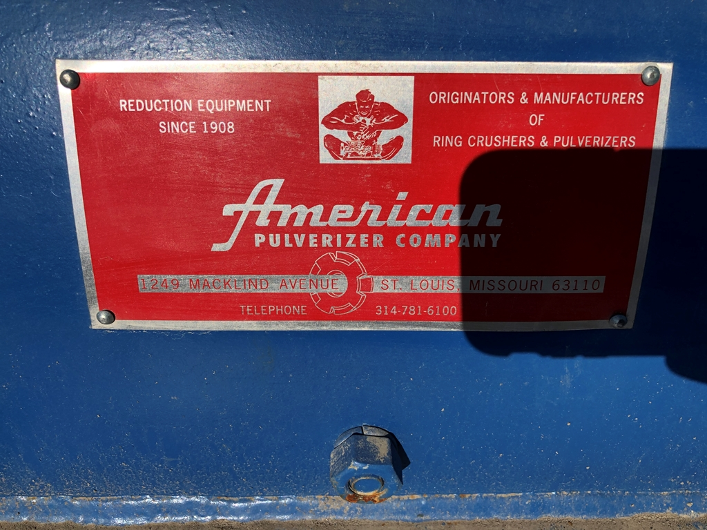 Image 75 HP AMERICAN PULVERIZER Hammermill - Carbon Steel 1586916