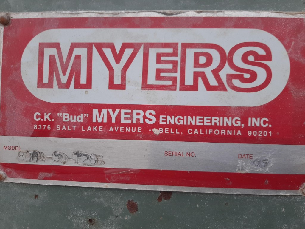 Image 50 HP MYERS 800A-50 Dispersion Mixer - Stainless Steel 1586932