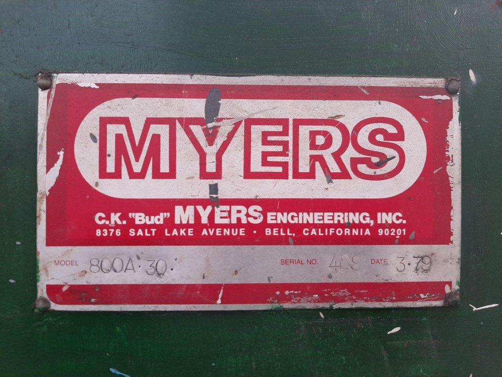 Image 30 HP MYERS 800A-30 Dispersion Mixer 1586937