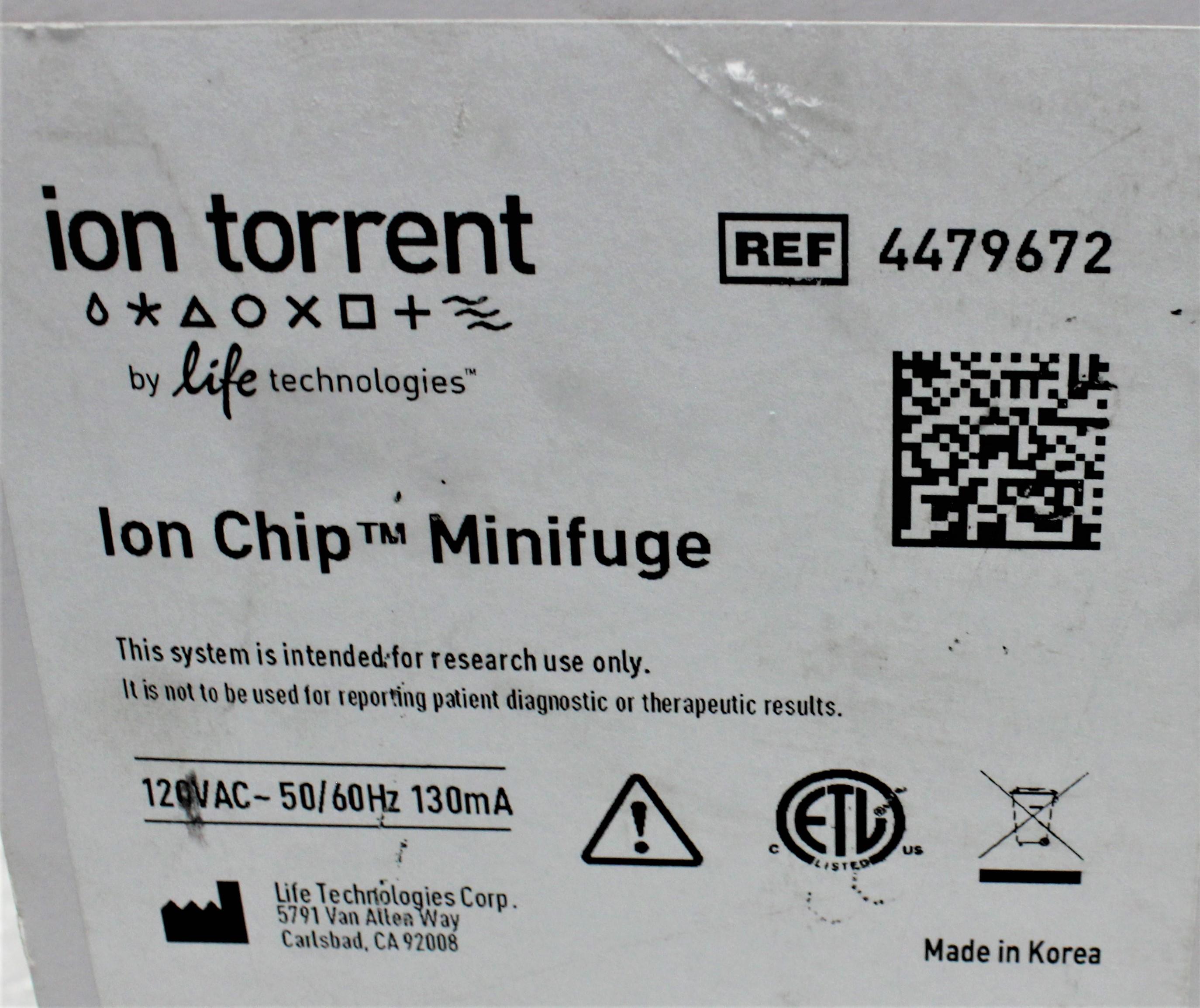 Image ION TORRENT 4479672 Ion Chip Minifuge 1586957