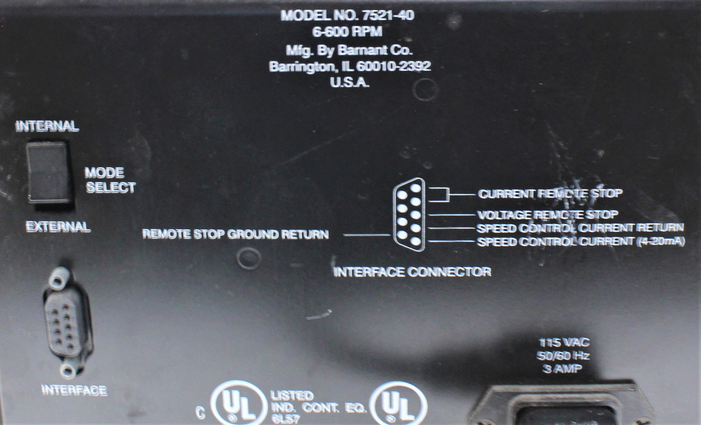 Image COLE PARMER 7521-40 Masterflex Peristaltic Pump 1586990
