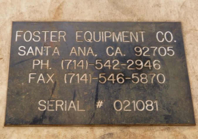 Image 15 Cu. Ft. FOSTER EQUIPMENT Paddle Mixer - Carbon Steel 1587034