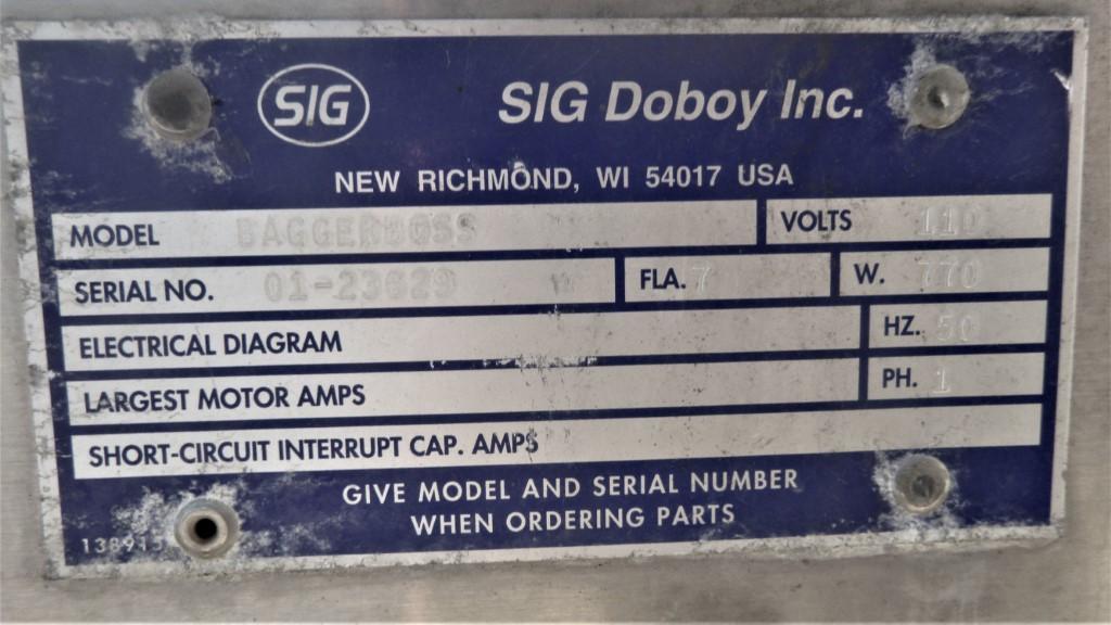 Image SIG DOBOY BaggerBoss Washdown Packaging System 1587067