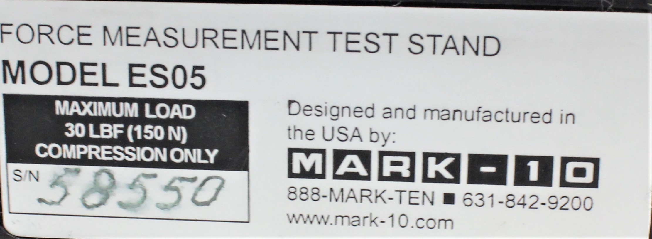 Image MARK-10 ES05 Lever Operated Test Stand - 30 Lb. 1587078