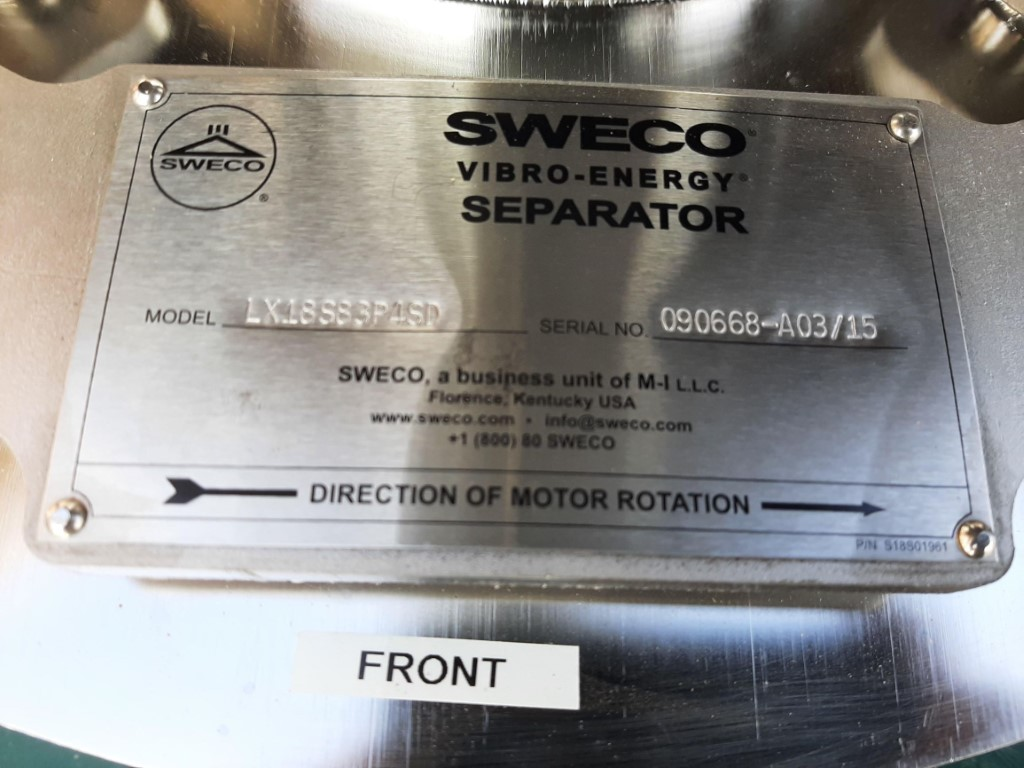 Image 18in SWECO LX18S83P4SD Screen - 304 Stainless Steel 1587180