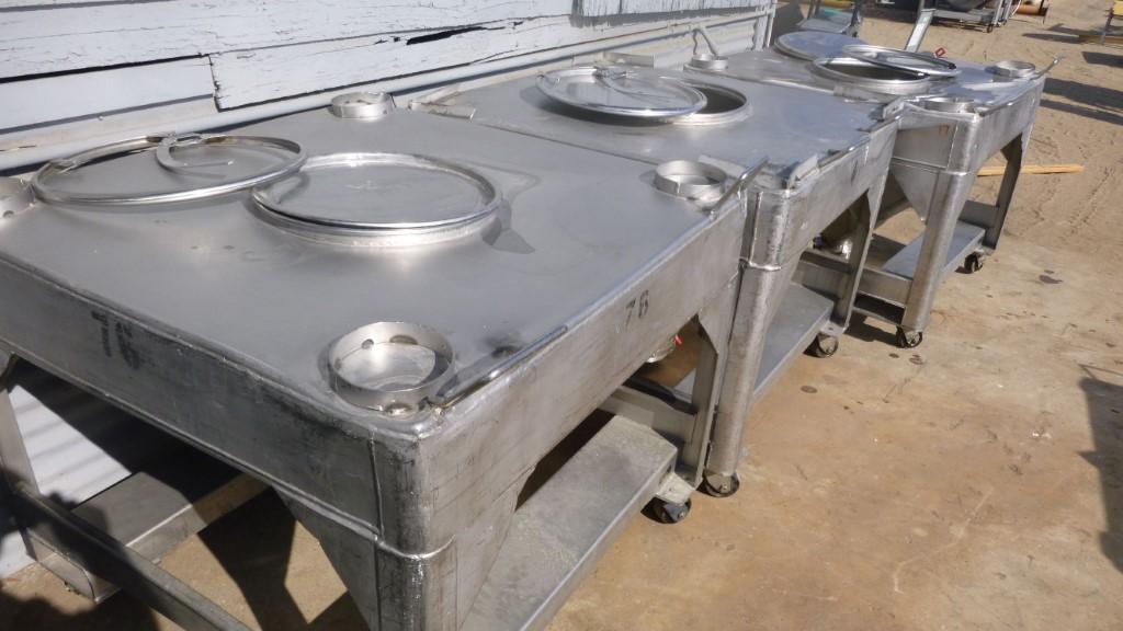 Image 25 Cu. Ft. FLO-BIN Tote Bin - Stainless Steel 1587183
