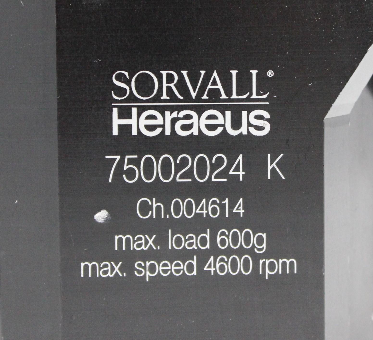 Image SORVALL HERAEUS 75002024 K Centrifuge Buckets - 7-Place, 600g, 4600rpm 1587206