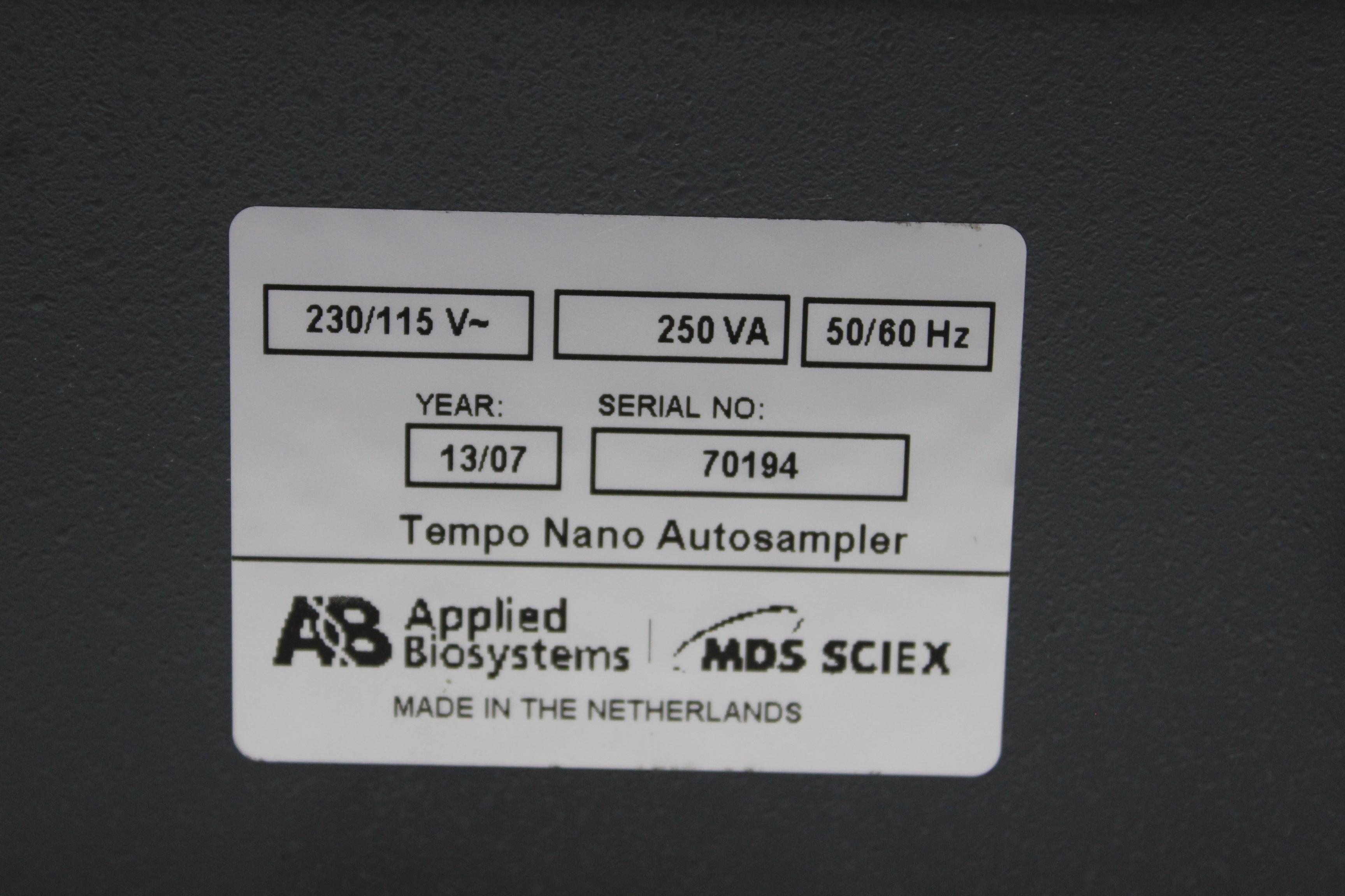 Image APPLIED BIOSYSTEMS MDS SCIEX Tempo Nano Autosampler 1587233