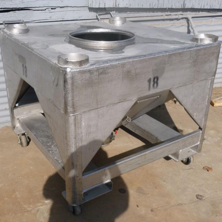Image 25 Cu. Ft. FLO-BIN Tote Bin - Stainless Steel 1587258
