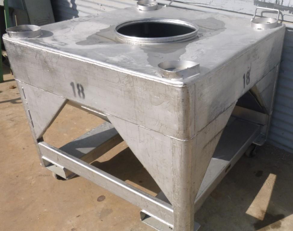 Image 25 Cu. Ft. FLO-BIN Tote Bin - Stainless Steel 1587259