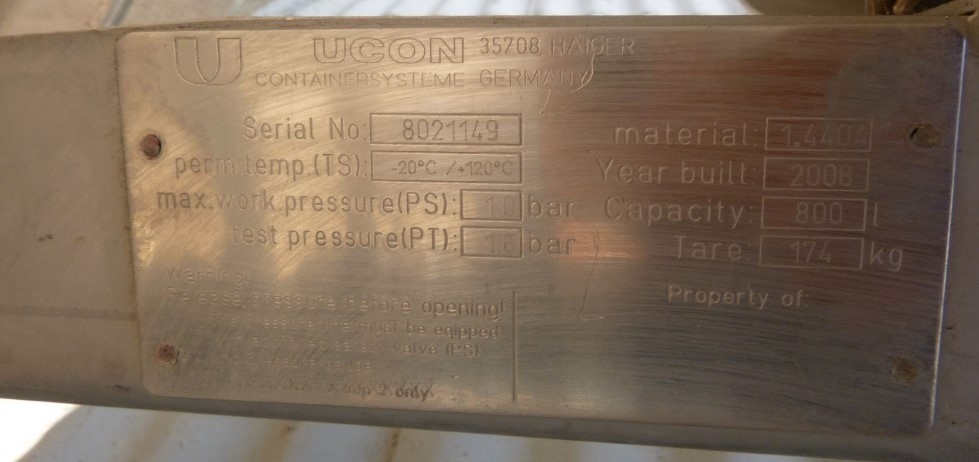 Image 211 Gallon UCON Jacketed Tank - Stainless Steel 1587290