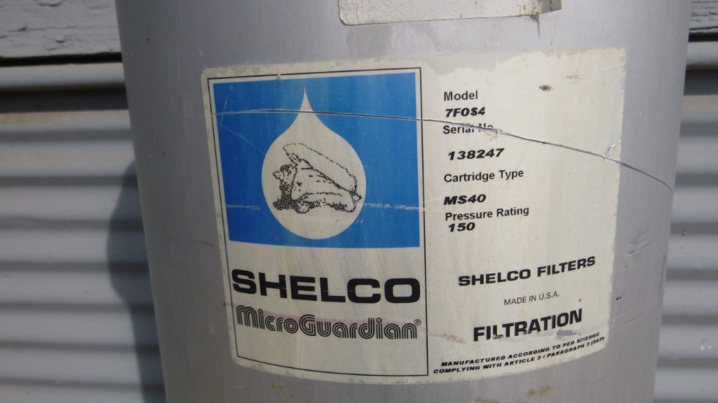 Image SHELCO 7F0S4 Cartridge Filter - 304 Stainless Steel 1587296