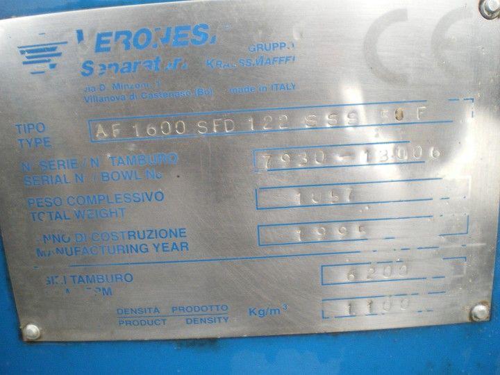 Image VERONESI AF 1600 Self Cleaning Centrifuge 379786